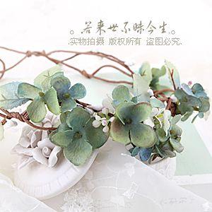 2014 High quality handmade green cute flowers bridal wedding accessories wreath garland photography props US $27.35