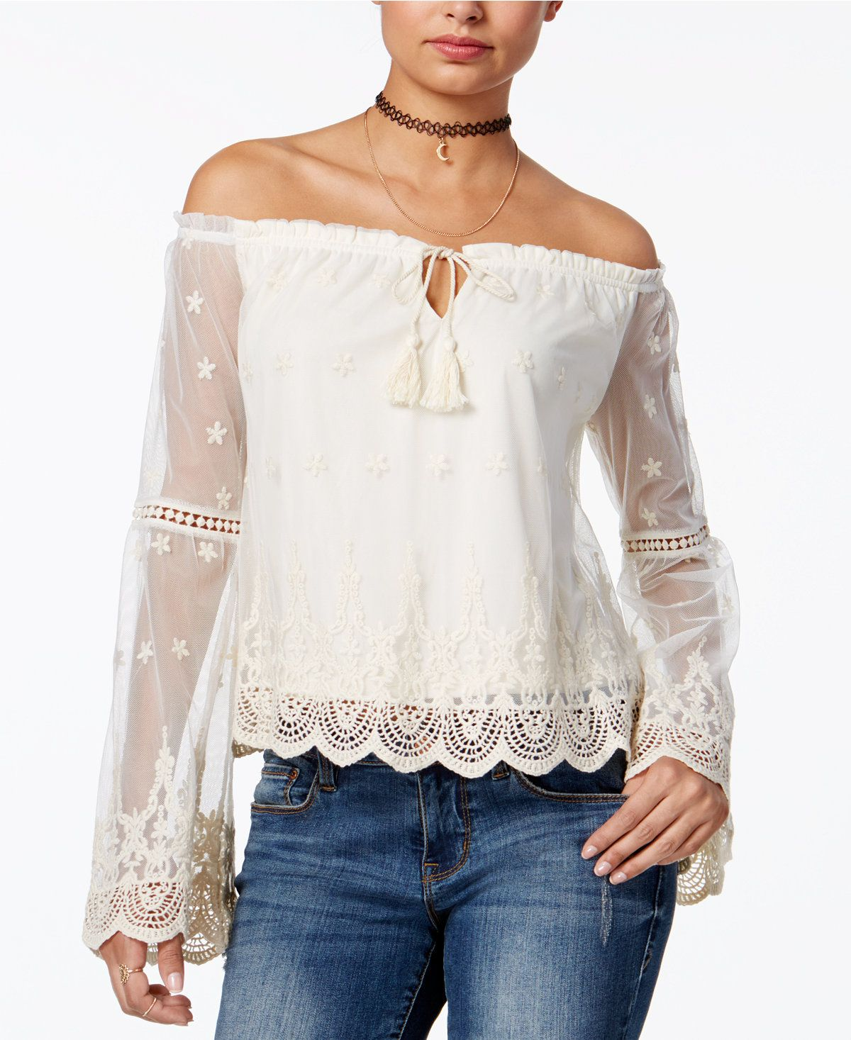 9c5c9394d95 American Rag Off-The-Shoulder Peasant Top
