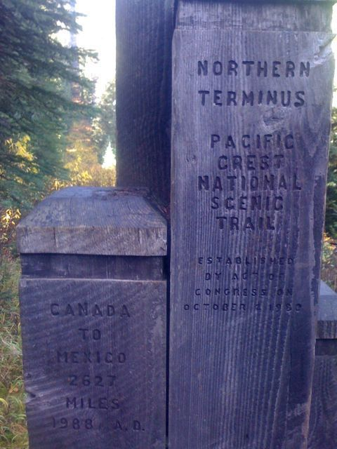 the pacific crest trail northern terminus british columbia