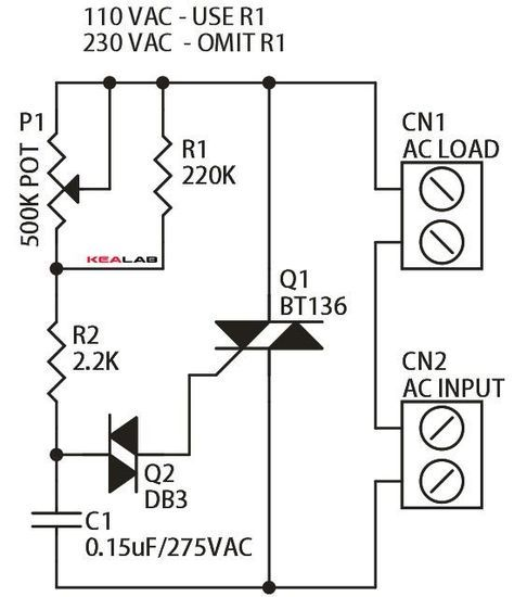 ac dimmer circuit use arduino for projects