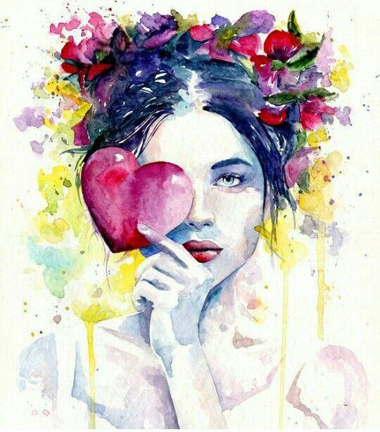 Pin By Rosal On Filosofia Watercolor Art Art Watercolor Portraits