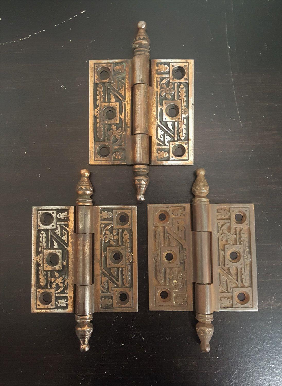 2 1 2 X 2 1 2 Cabinet Or Door Antique Bronze Feather Hinge Etsy
