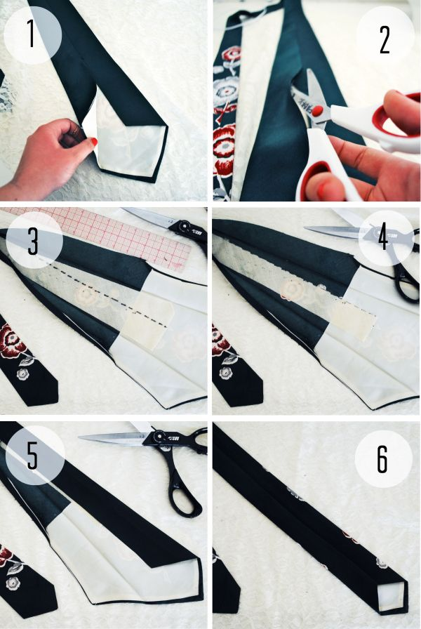 Here\'s one for the men: How to Skinnify a Tie | Project / Fabric ...