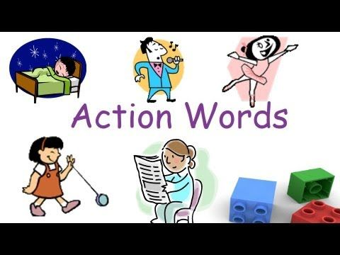 Action Words And Verbs For Preschool And Kindergarten Children Action Words Kindergarten Reading Language Arts Elementary
