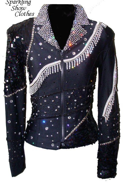 ea3fedd99549c Black Rhinestone Fringe Jacket ~ looks like it would be SO much fun to wear!