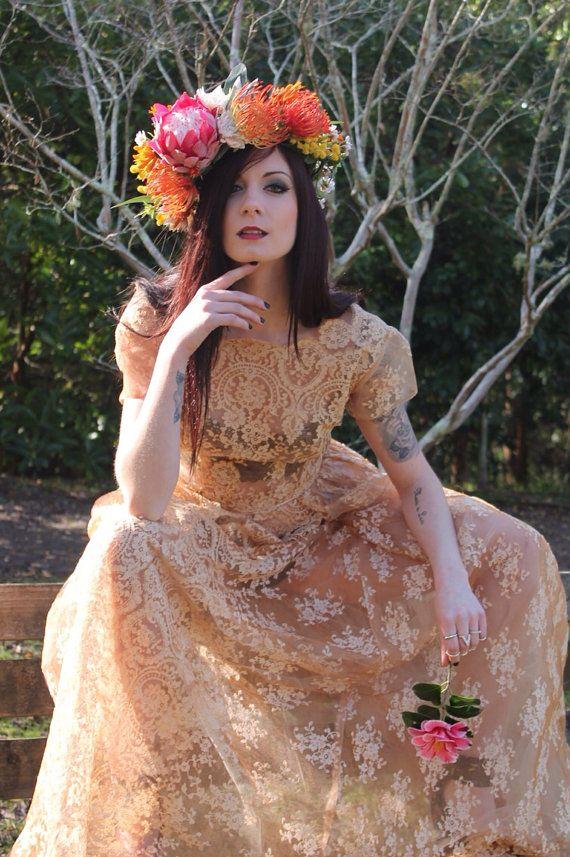Australian Native Flowercrown boho bridal fascinator