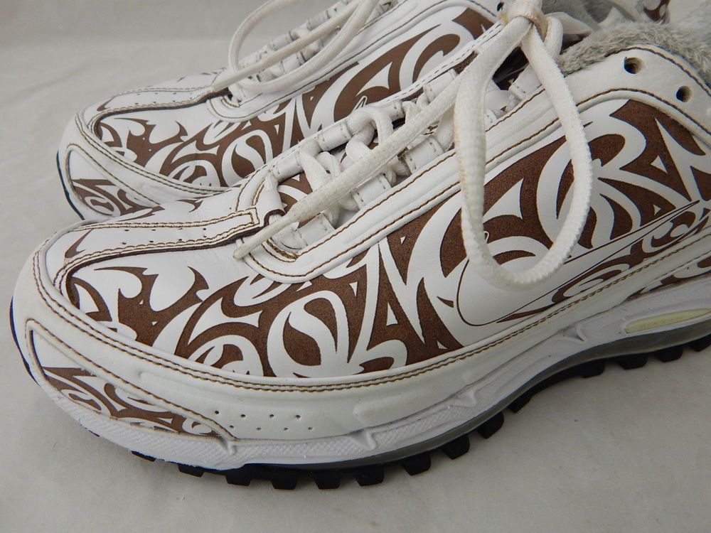 sneakers for cheap eda80 67cbf Nike Tribal TL4 Air Max Premium 360 Men s Size 8 White Brown 318456 111 Rare  SOLD  Nike  RunningCrossTraining