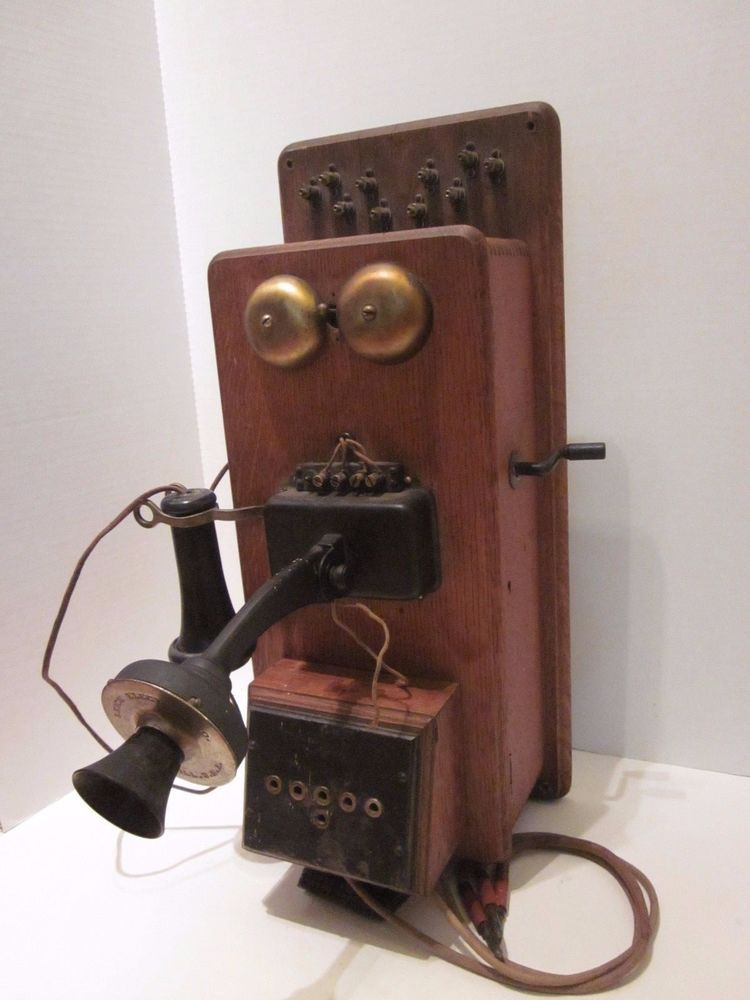 Coast Electric Phone Number >> Details About Antique Stromberg Carlson Oak Wall Phone Crank