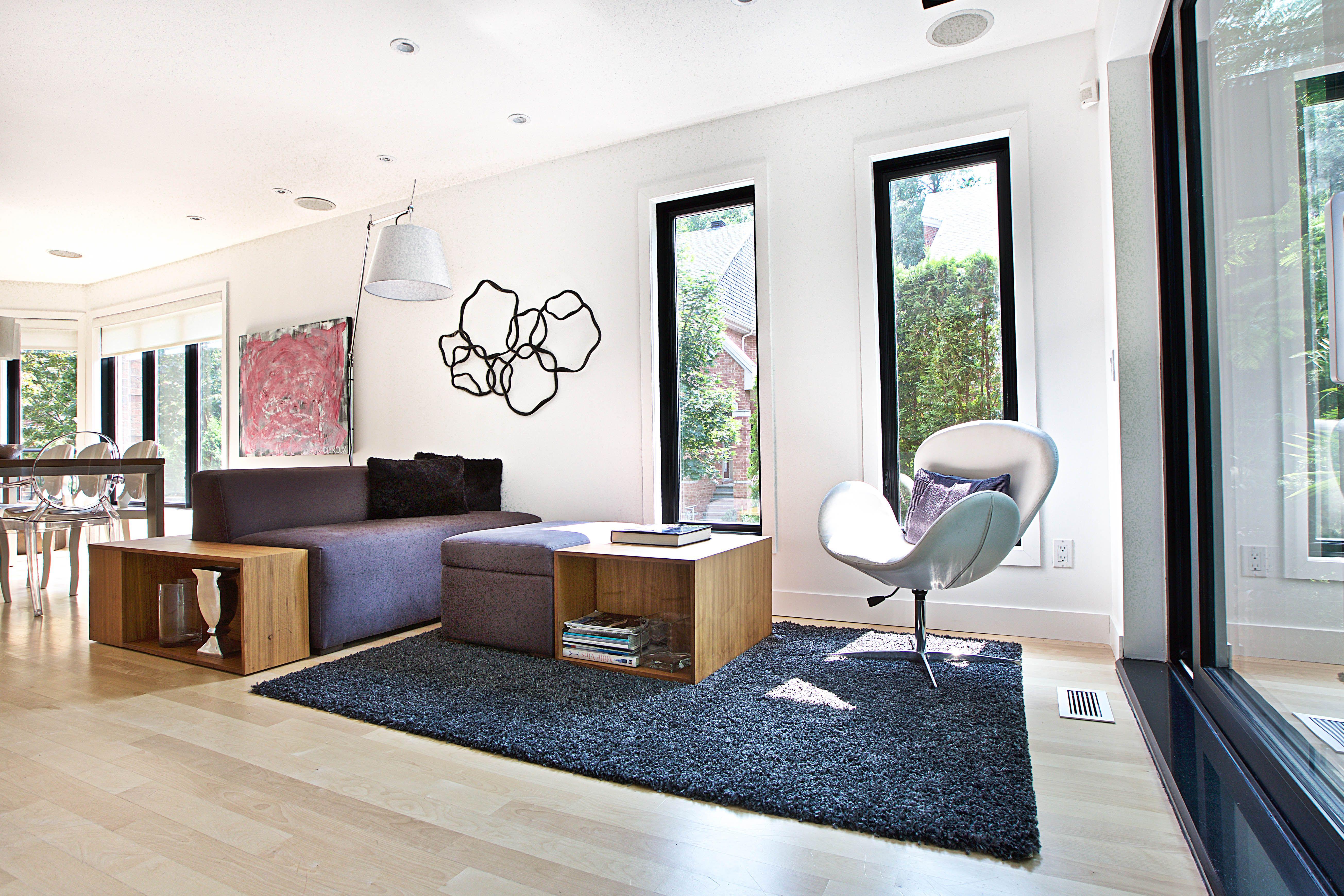 Architecture Design Salon Salle familiale Tapis Mobilier