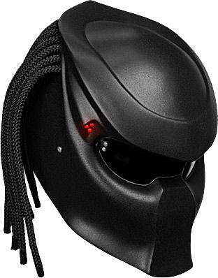 un casque predator pour rouler en moto repliques le masque et casque. Black Bedroom Furniture Sets. Home Design Ideas