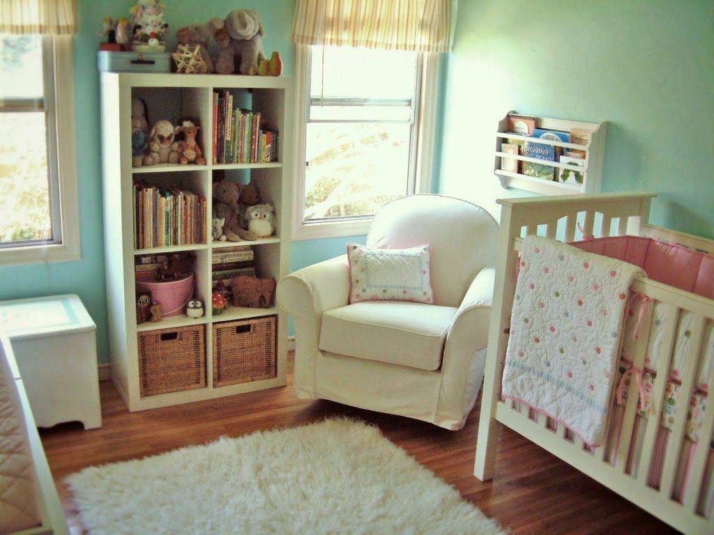 Superb Comfy Cozy Aqua And White Nursery. I Love The Color Of The Wall.