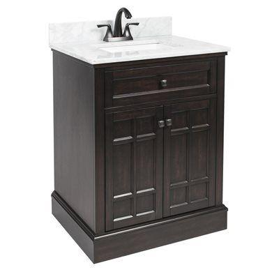 Foremost 28 In X 22 In Blaire Undermount 1 Birch Poplar Bathroom