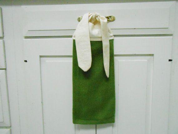 Kitchen Hand Towel Tie On Towel Towel With Ties By AkornShop, $5.95