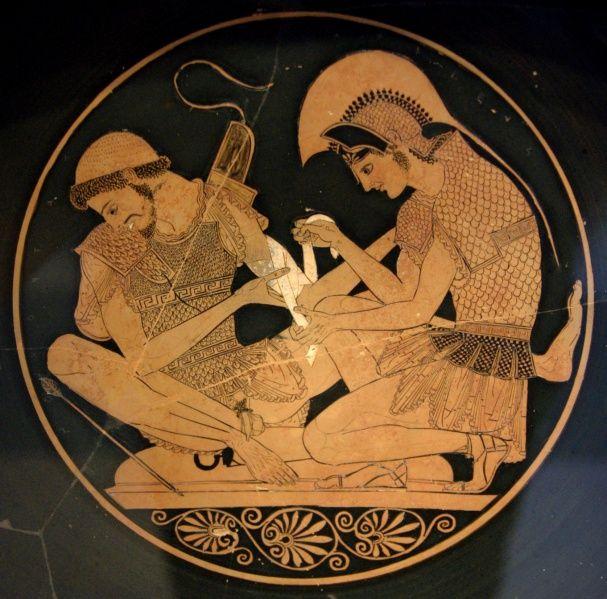 Sosia Achille Cura Patroclo Ferito Pittura Vascolare Inizio V Secolo A C Berlino Staatliche Museen Arte Antica Greca Achille Arte Greca