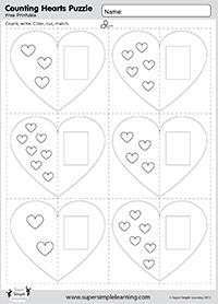 valentine 39 s day worksheet counting hearts puzzle holidays pinterest worksheets free. Black Bedroom Furniture Sets. Home Design Ideas