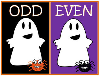 Classroom Freebies: Friendly Ghost Odd and Even Numbers Sort