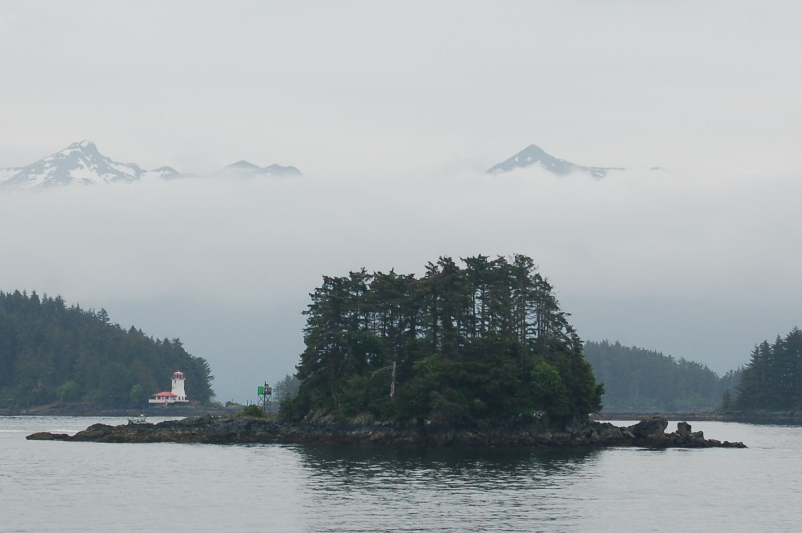 Rockwell Lighthouse off the coast of Sitka Alaska