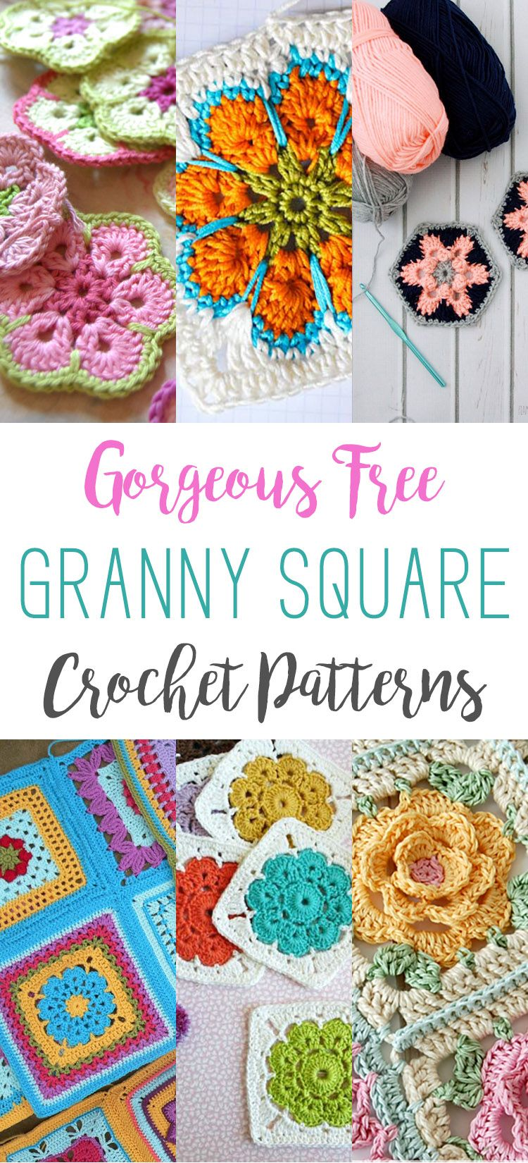 Gorgeous Free Granny Square Crochet Patterns | Square, Frei und Englisch