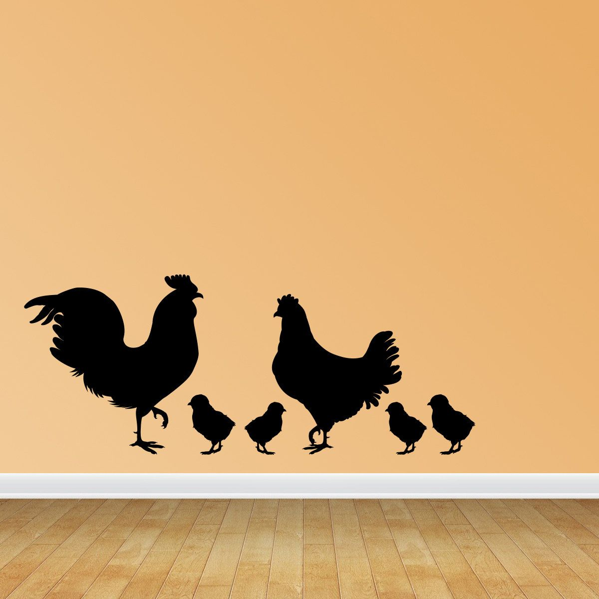 Rooster Chicken and Chicks Wall Decals Removable Wall Decal Chicken ...
