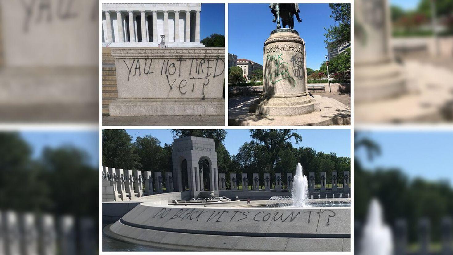 Vandals target historic monuments amid Floyd