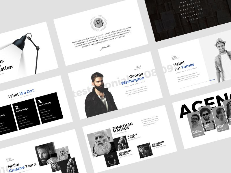 Minimalist powerpoint template template and ui design ui design minimalist powerpoint template toneelgroepblik Choice Image
