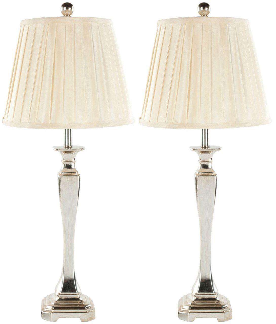Safavieh Athena 28Inch Table Lamp LIT4025ASET2 Silver