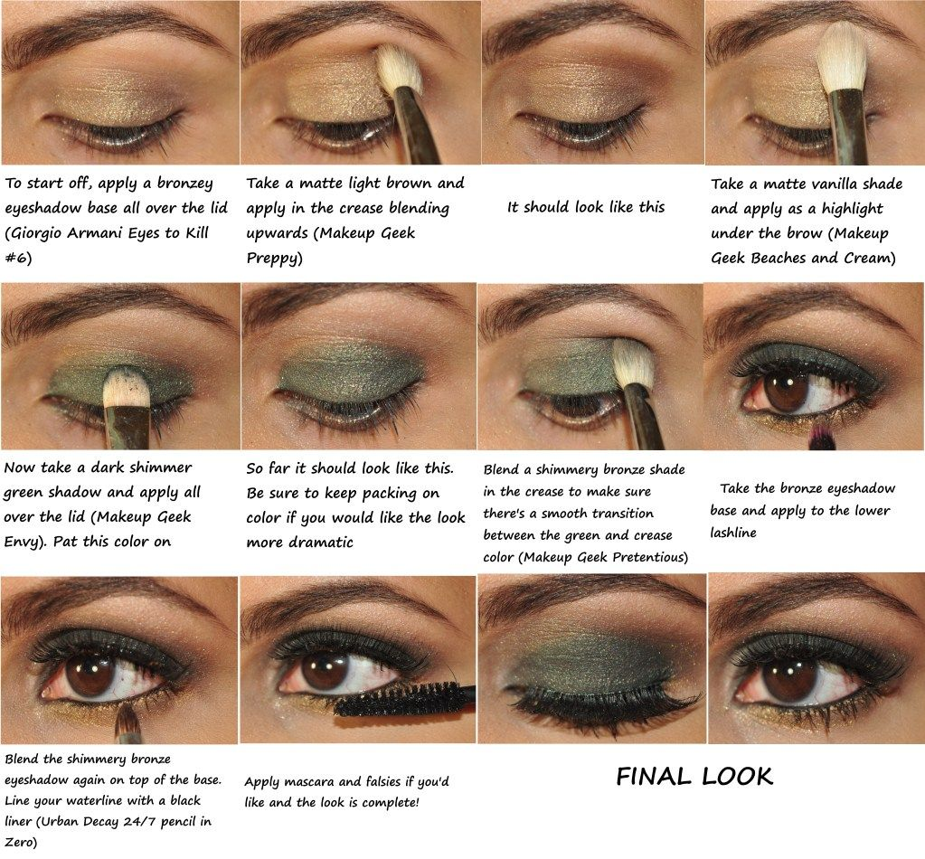 Bronze And Green Smokey Eye Makeup Smokey Eye Makeup Tutorial
