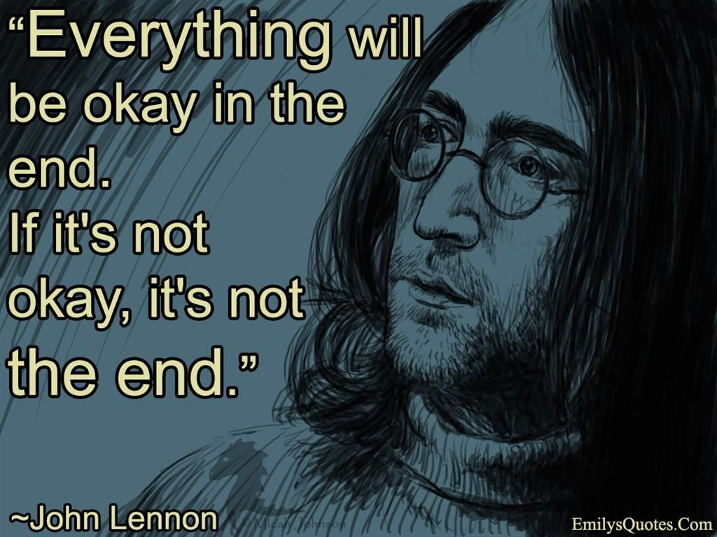 Exceptional Image For John Lennon The Beatles Everything Will Be Ok Quote HD Wallpaper