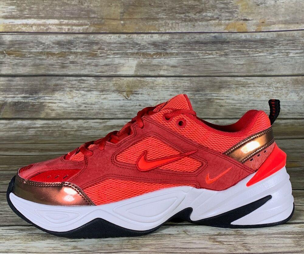 Nike M2k Tekno Suede University Red Crimson Av7030 600 Women Size 9 5 Nikem2ktekno Runningcrosstraining Dad Shoes Womens Running Shoes Red Suede