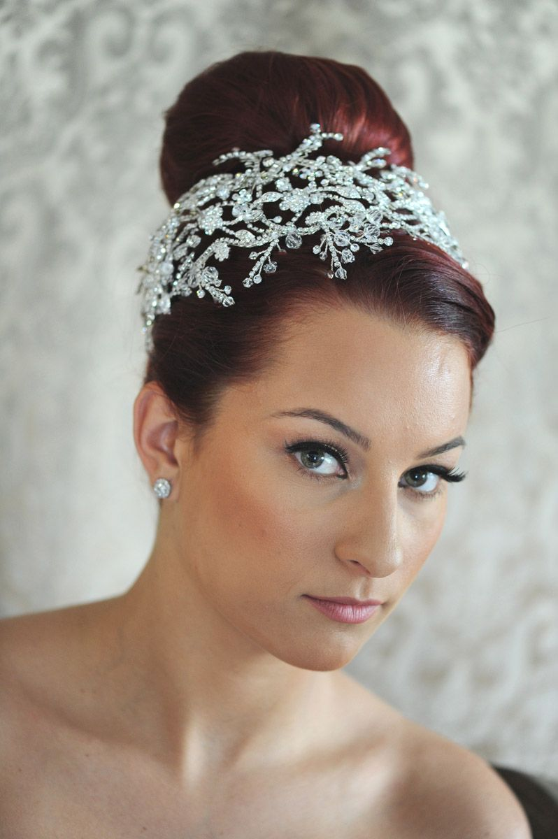 Bridal tiaras and veils - Maritza S Bridal Veils Inc 9809 On Terrycosta Large Rhinestone Headband By Maritza S