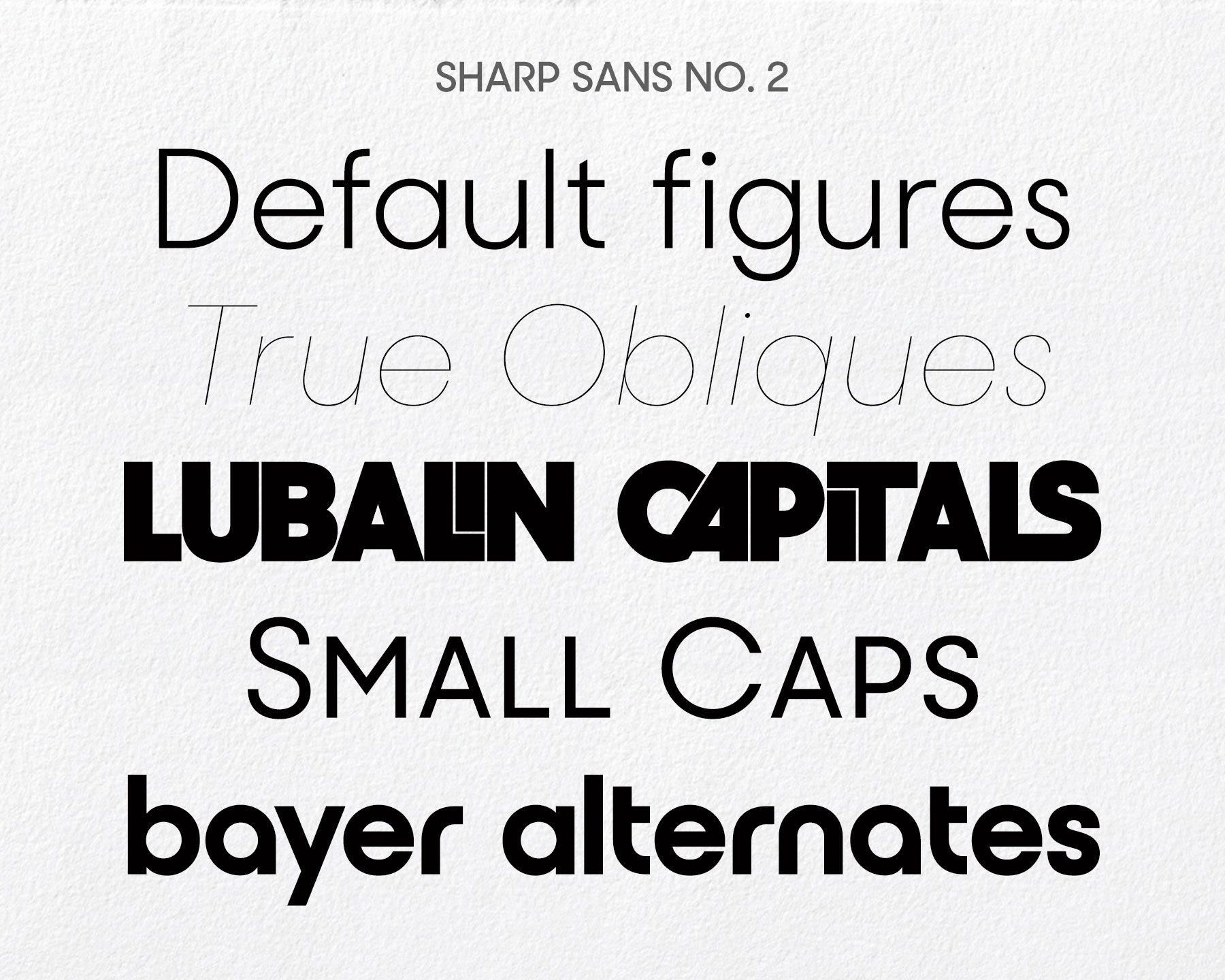 Humanist meets Futura: Sharp Sans No. 1 by Lucas Sharp