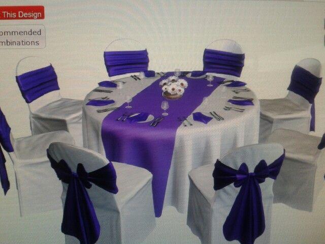 Purple table idea