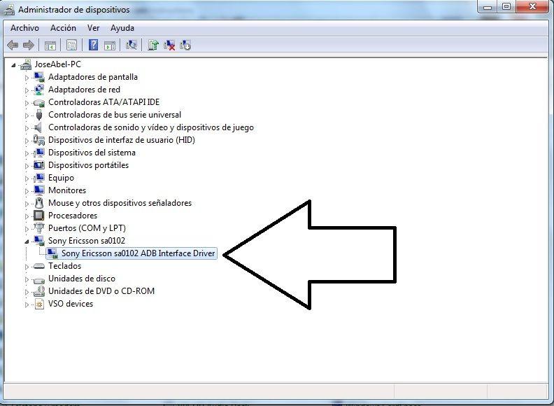 Sony Ericsson SA0101 ADB Interface Driver Windows 7