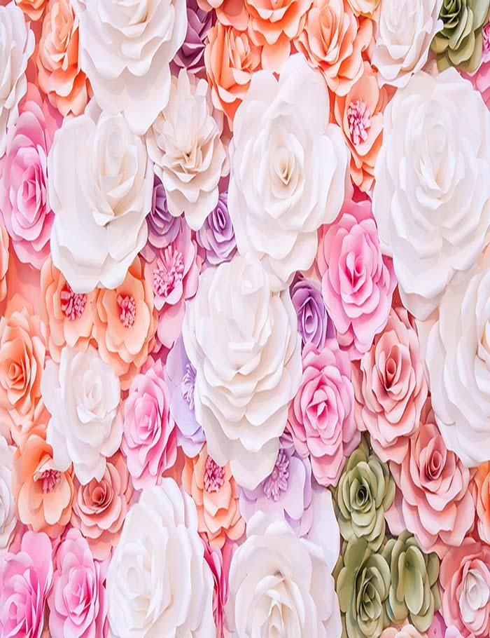 Portrait Photo Backdrop Rustic Floral Wooden Carnival Photography Background Backdrop Newborn Baby Shower Birthday Party Portrait Photo Backdrop Purple Flower Board Wedding Background Wall