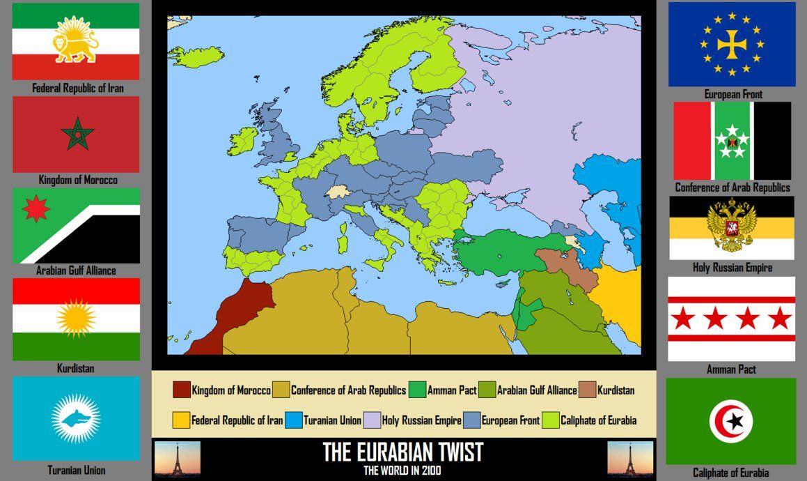 The Eurabian Twist By Silas Coldwine Fantasy Map Alternate History Seven Years War