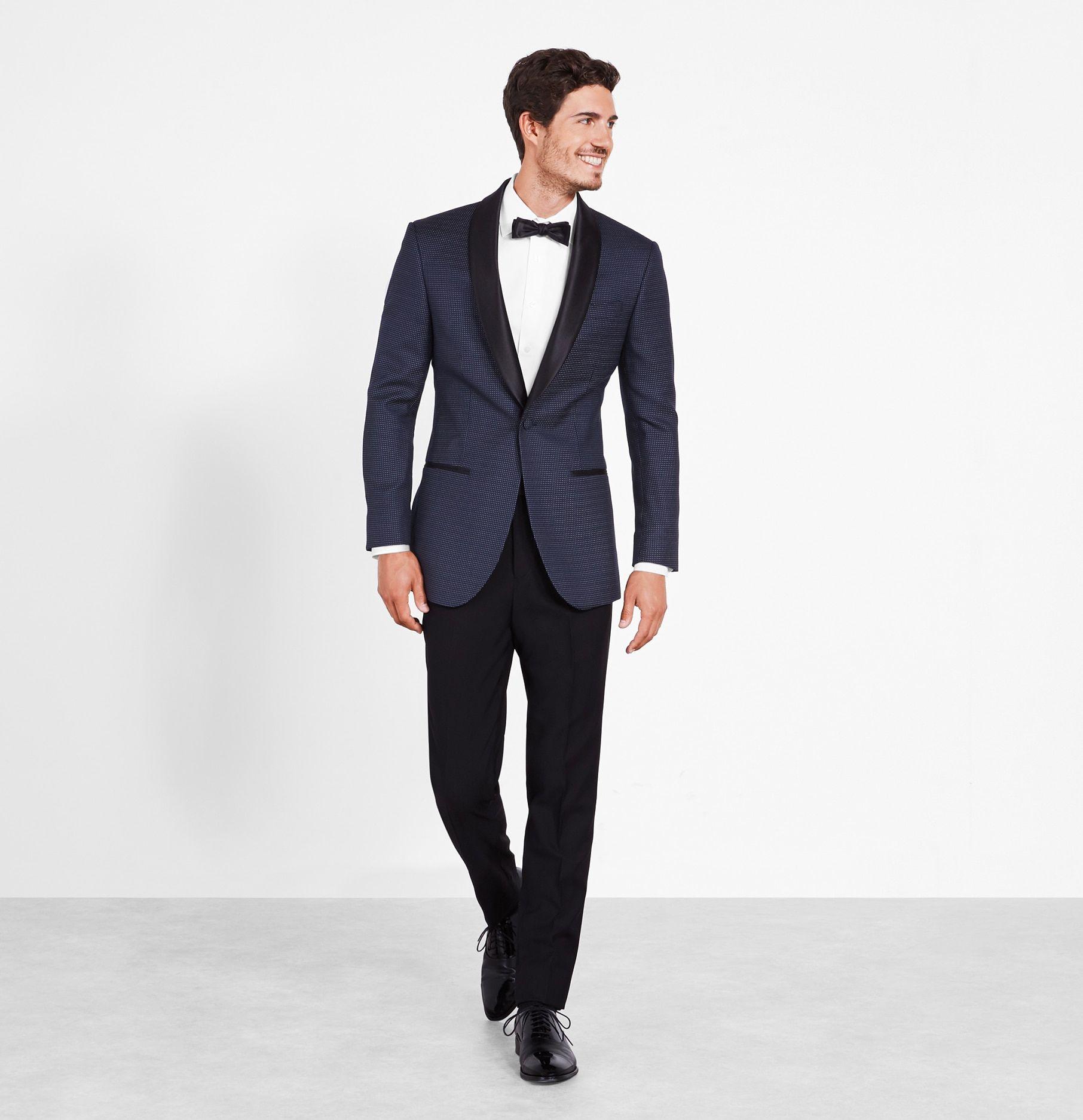 Midnight Pin Dot Tuxedo The Black Tux Black Tux Blue Tuxedo Wedding