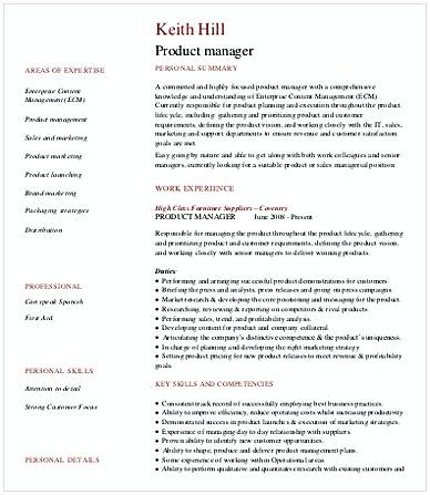 Software Product Manager Resume  Product Manager Resume  Are You