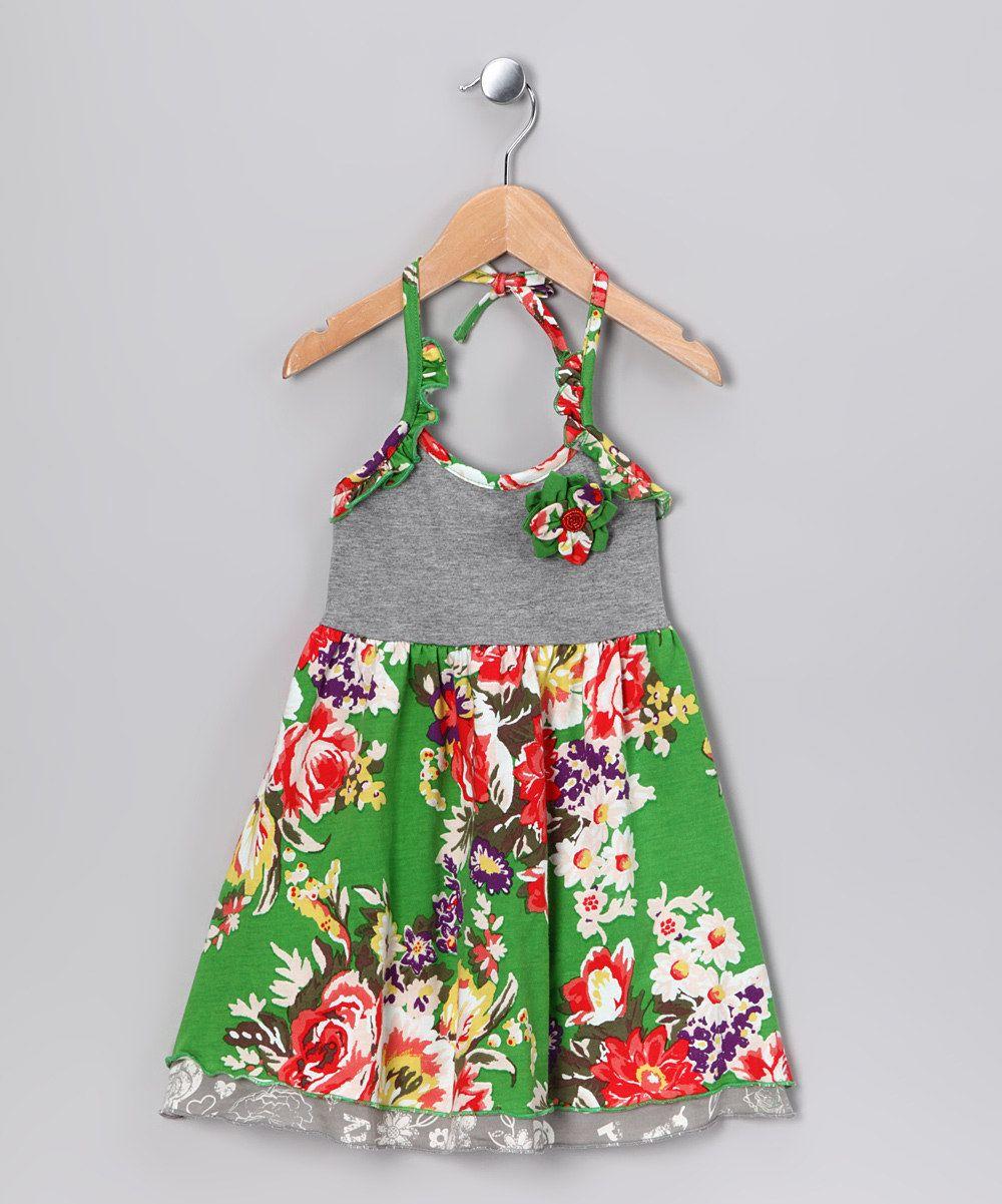 Emerald Rose Halter Dress - Toddler & Girls