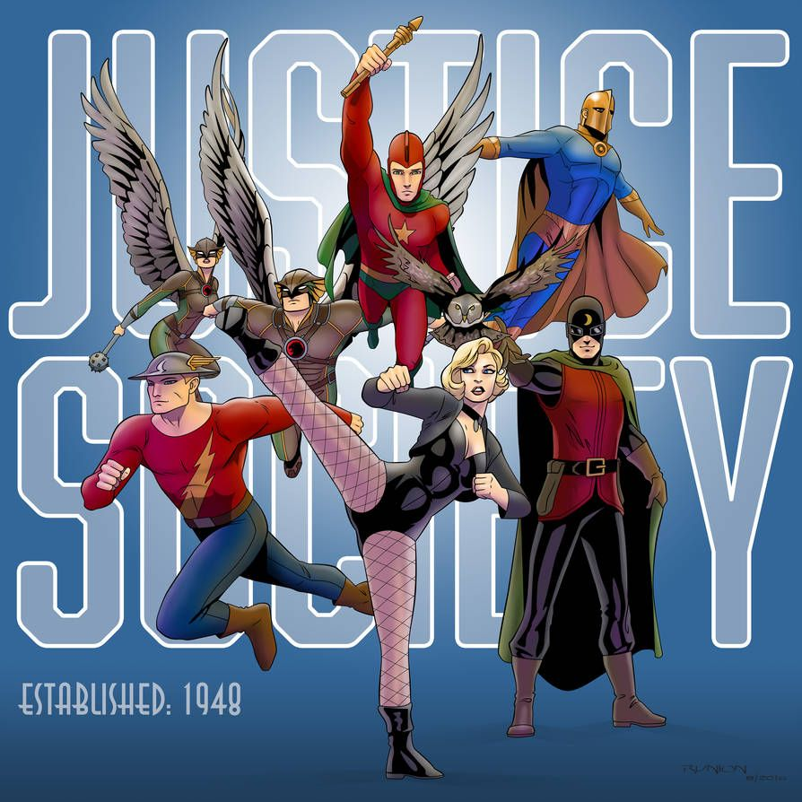 Justice Society By Https Www Deviantart Com Arunion On Deviantart Justice Society Of America Comic Books Art Justice