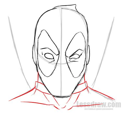 how to draw deadpool easy for beginners