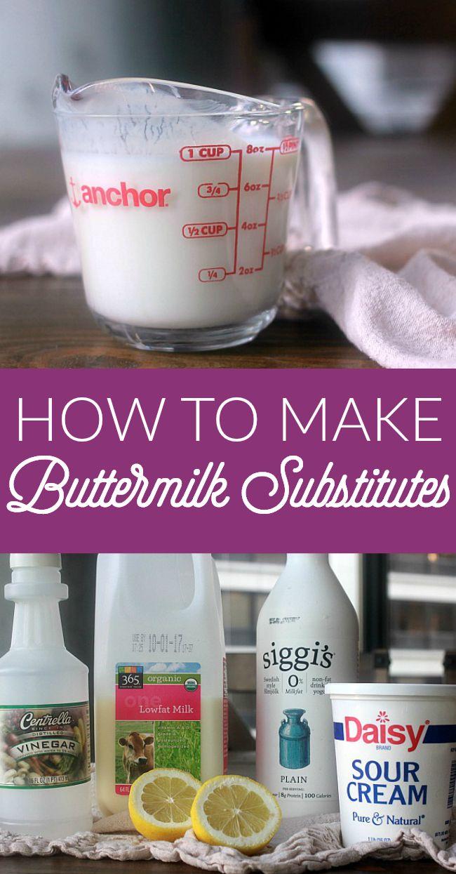 Buttermilk Substitute Recipe Buttermilk Substitute Buttermilk