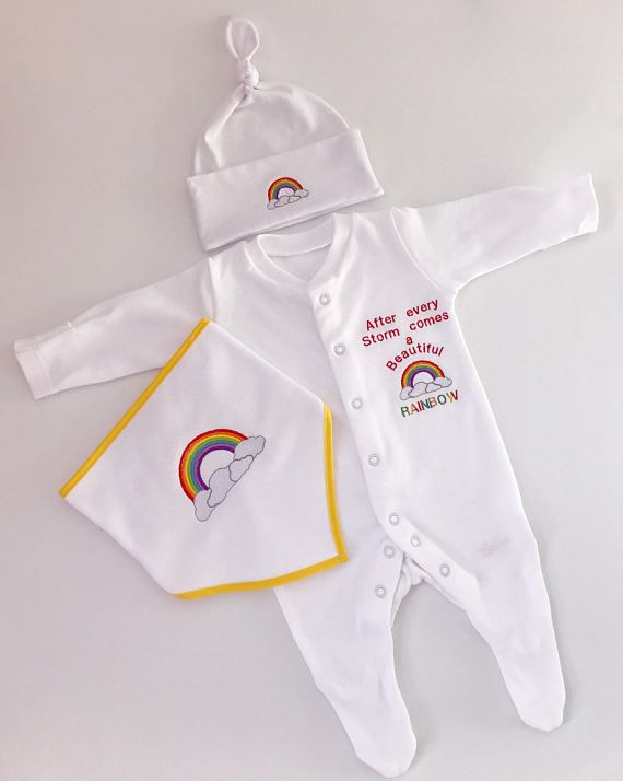 Rainbow Baby Clothes, baby shower gifts, Rainbow baby ...