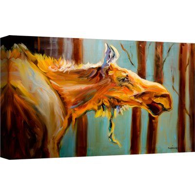 Ashton Wall Décor LLC \'Mangy Moose\' Painting Print on Canvas ...