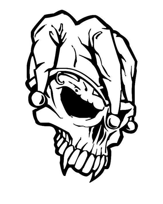 Skull Jester Vinyl Decal Custom Vinyl Transfer Paper And - Custom vinyl decals etsy