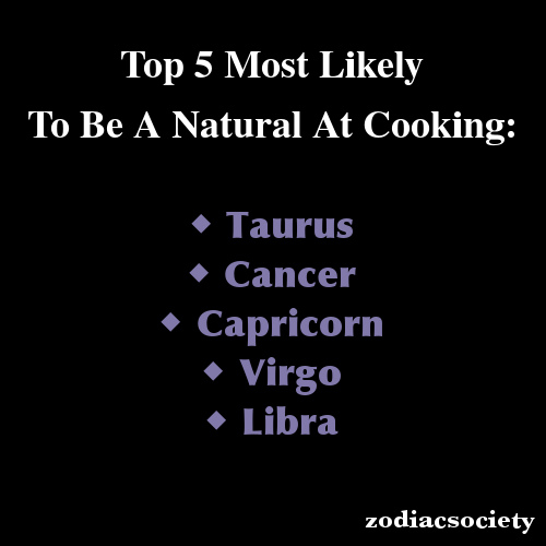 Zodiac signs: Top 5 Most Likely To Be a Natural at Cooking