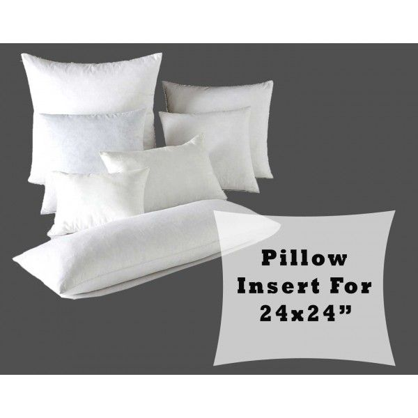 """24X24 Pillow Insert Delectable Pillow Form Fiber Fill Large Insert Stuffing For 24X24"""" Cushion Design Inspiration"""