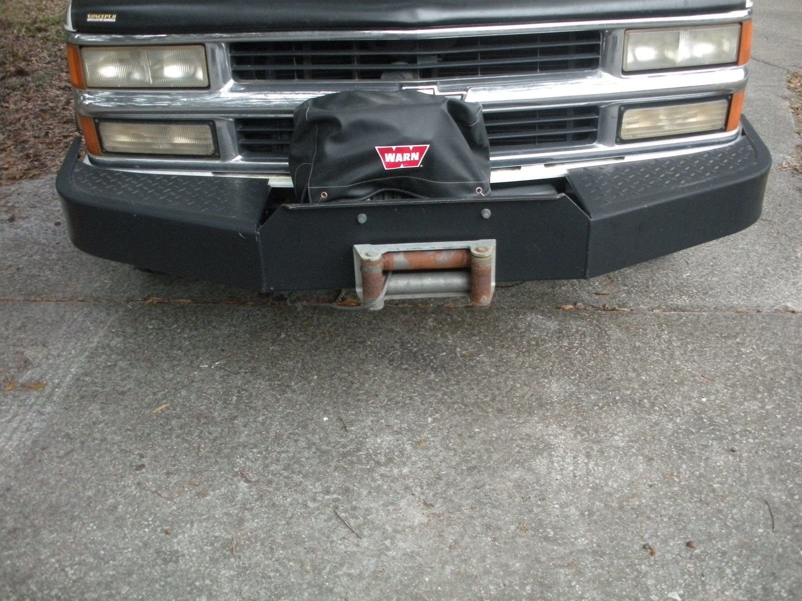 small resolution of chevy 88 98 warn winch bumper ebay