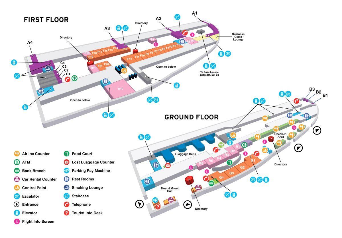 airportmaplarge.jpg (1200×837) Airport map, Map, Car