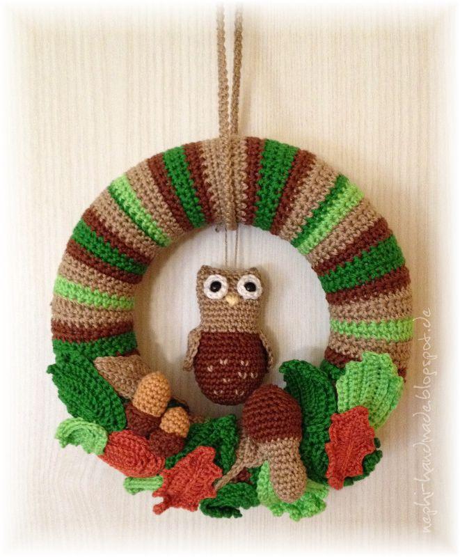 9 Motowichteln Herbstlicher Türkranz Crochet Pinterest