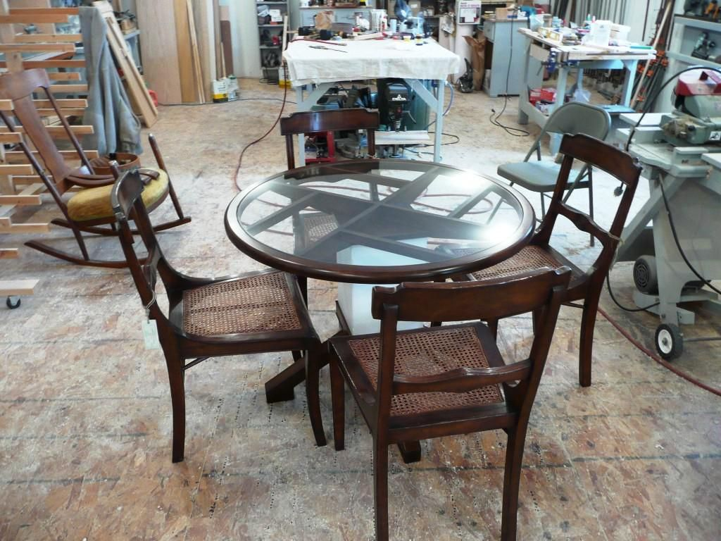 36 Inch Round Glass Dining Table And Chairs